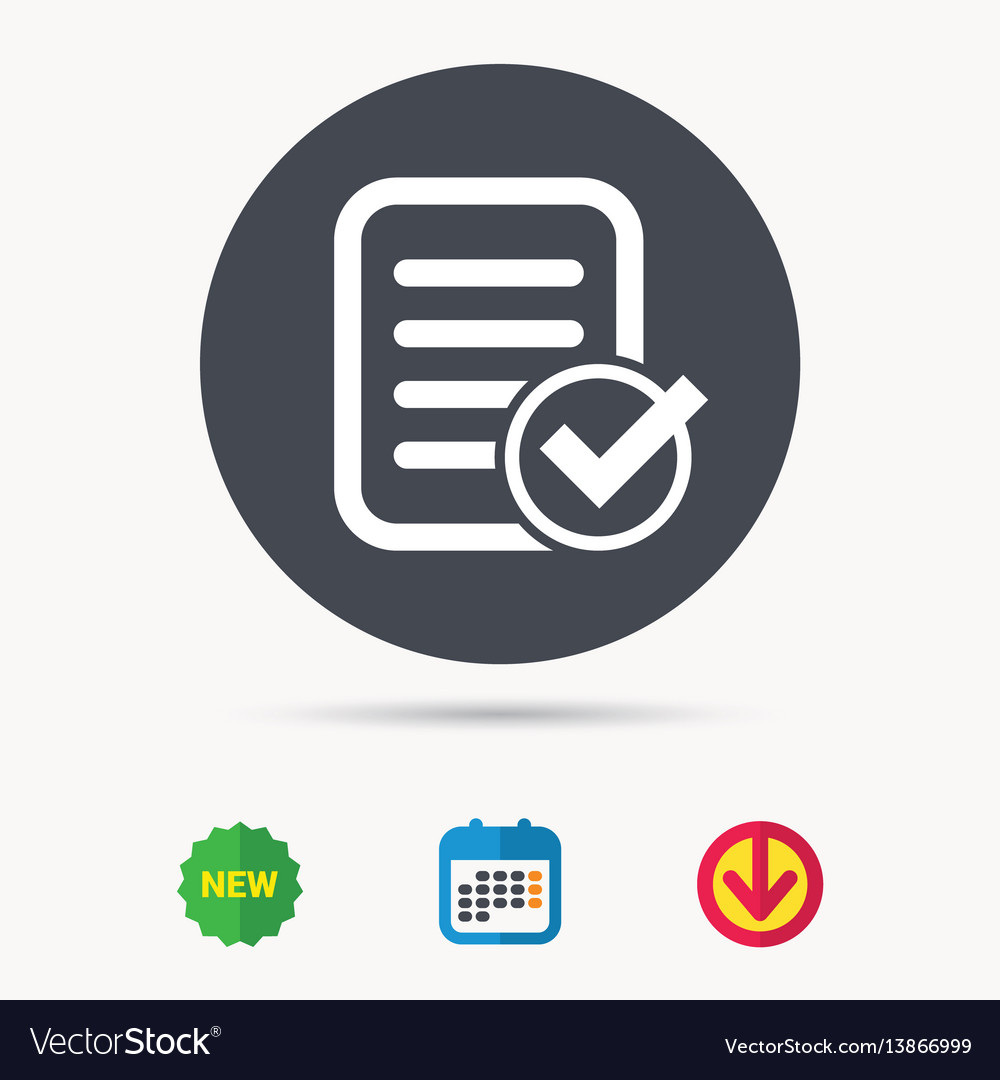 File selected icon document page with check