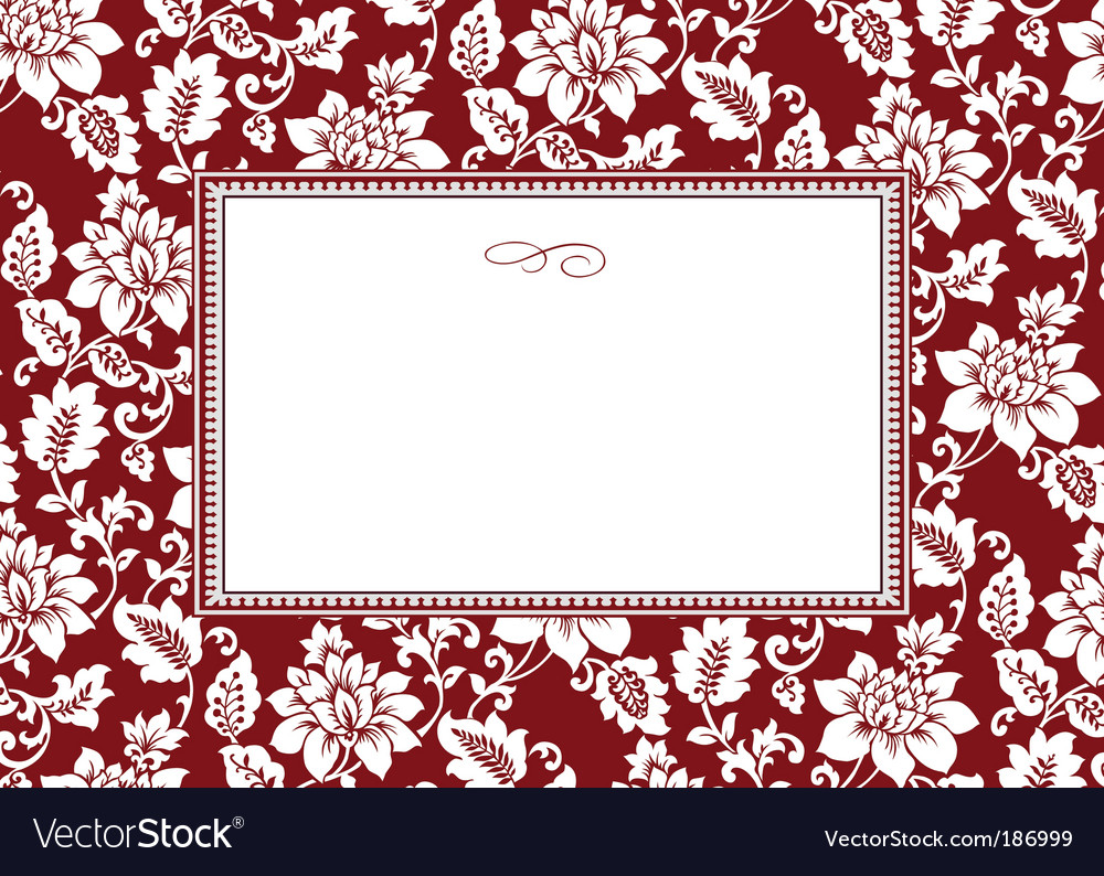 Floral pattern and frame