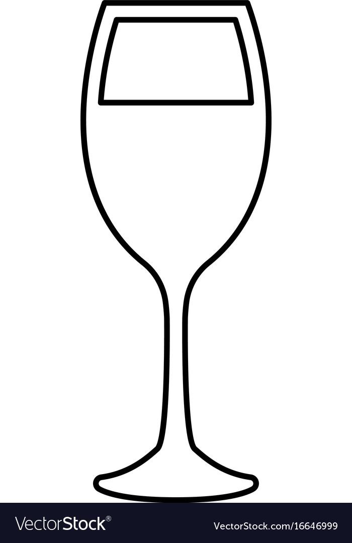 Glass of wine black color icon