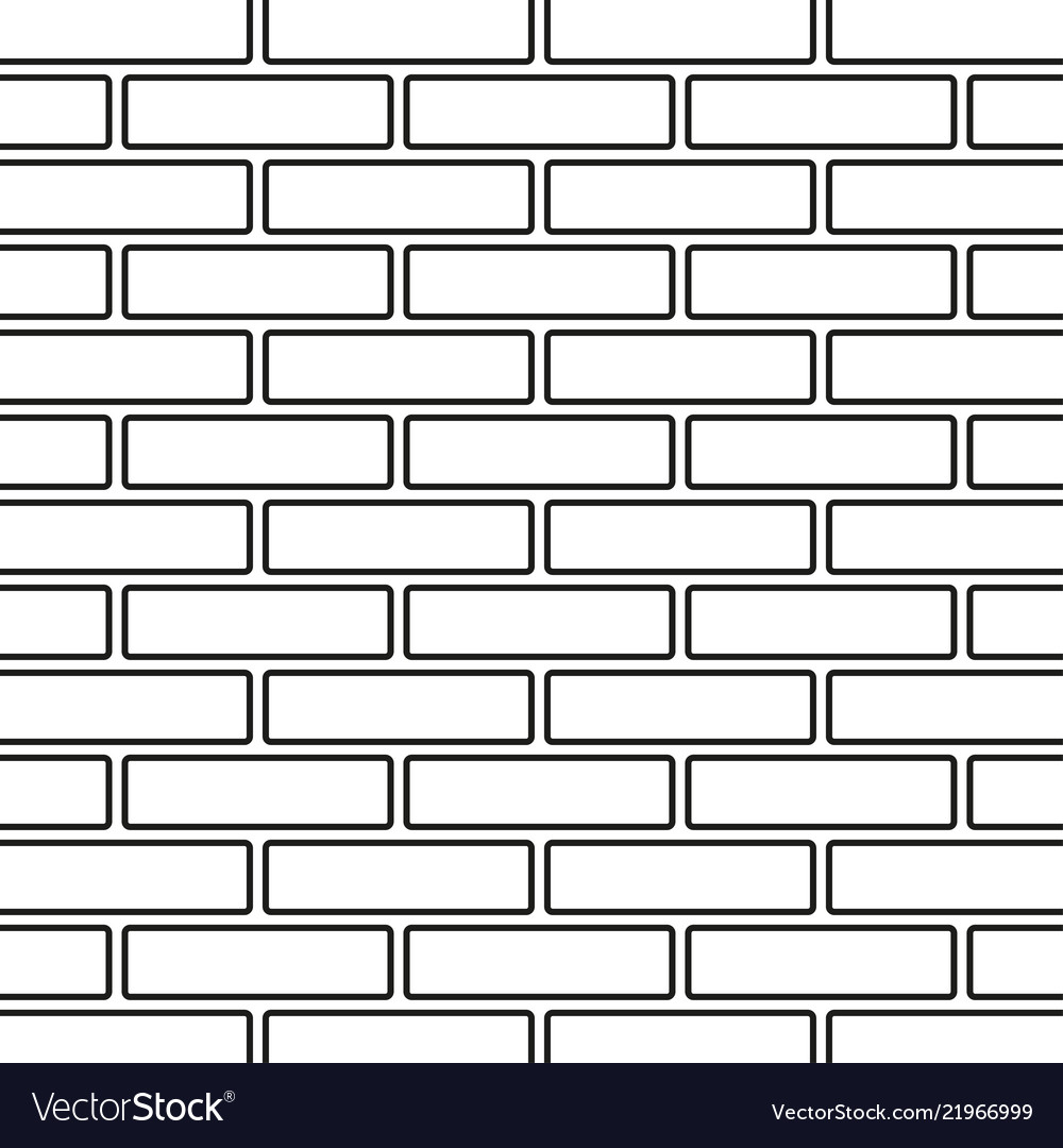 Line Art Black And White Brick Wall Royalty Free Vector