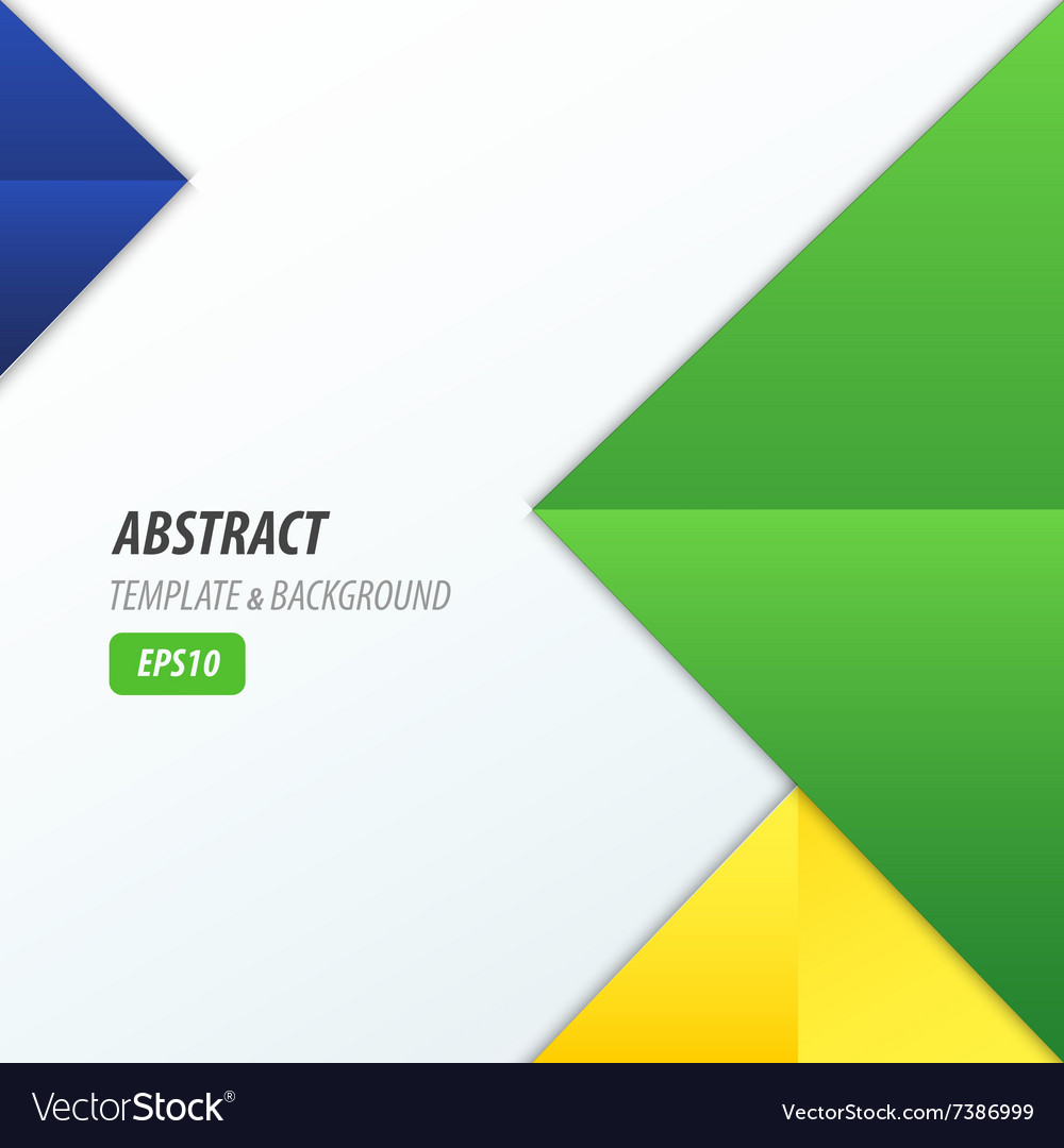 Pyramid Design Template 3 Color Yellow Blue Green