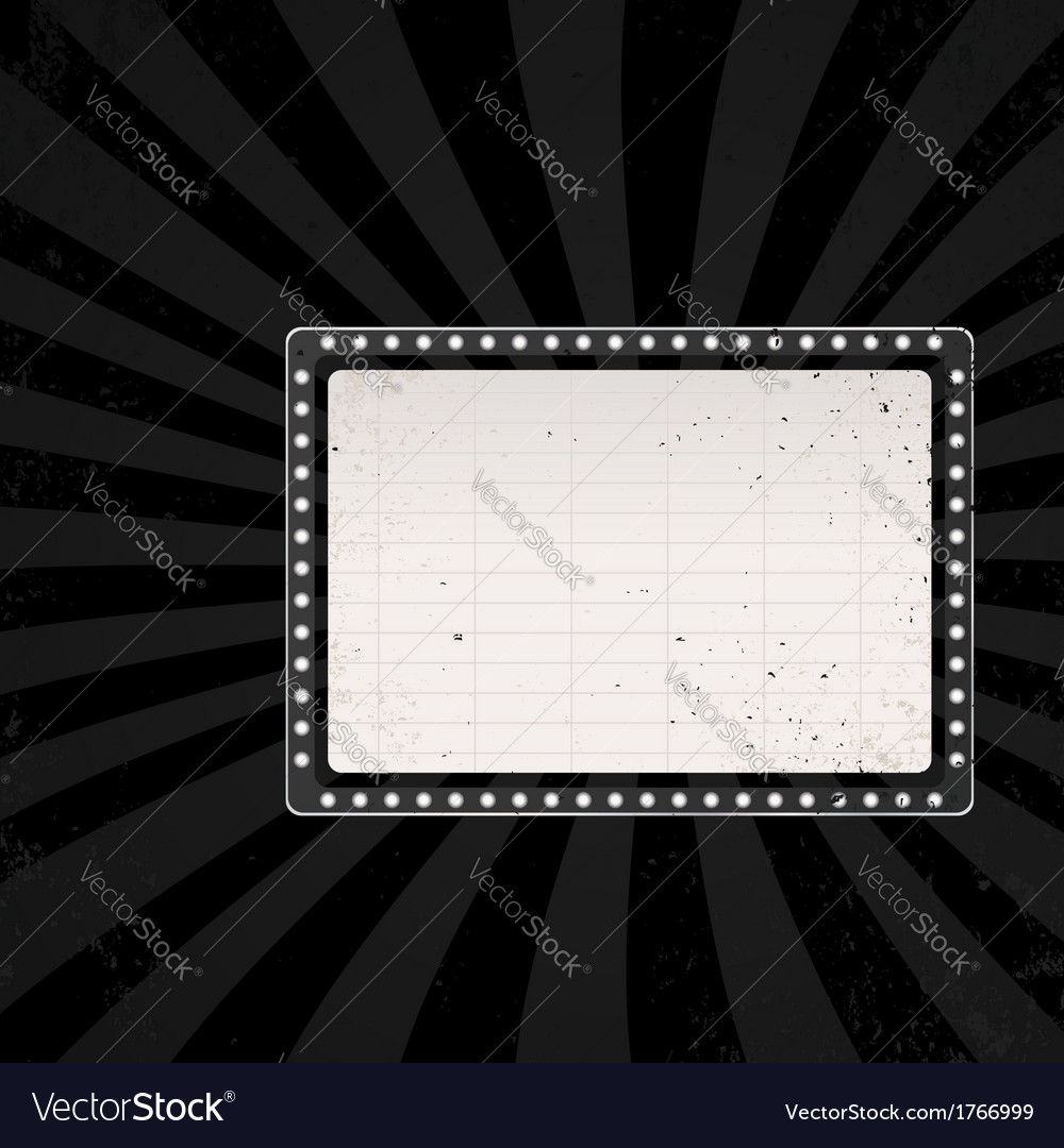 Retro cinema sign 1
