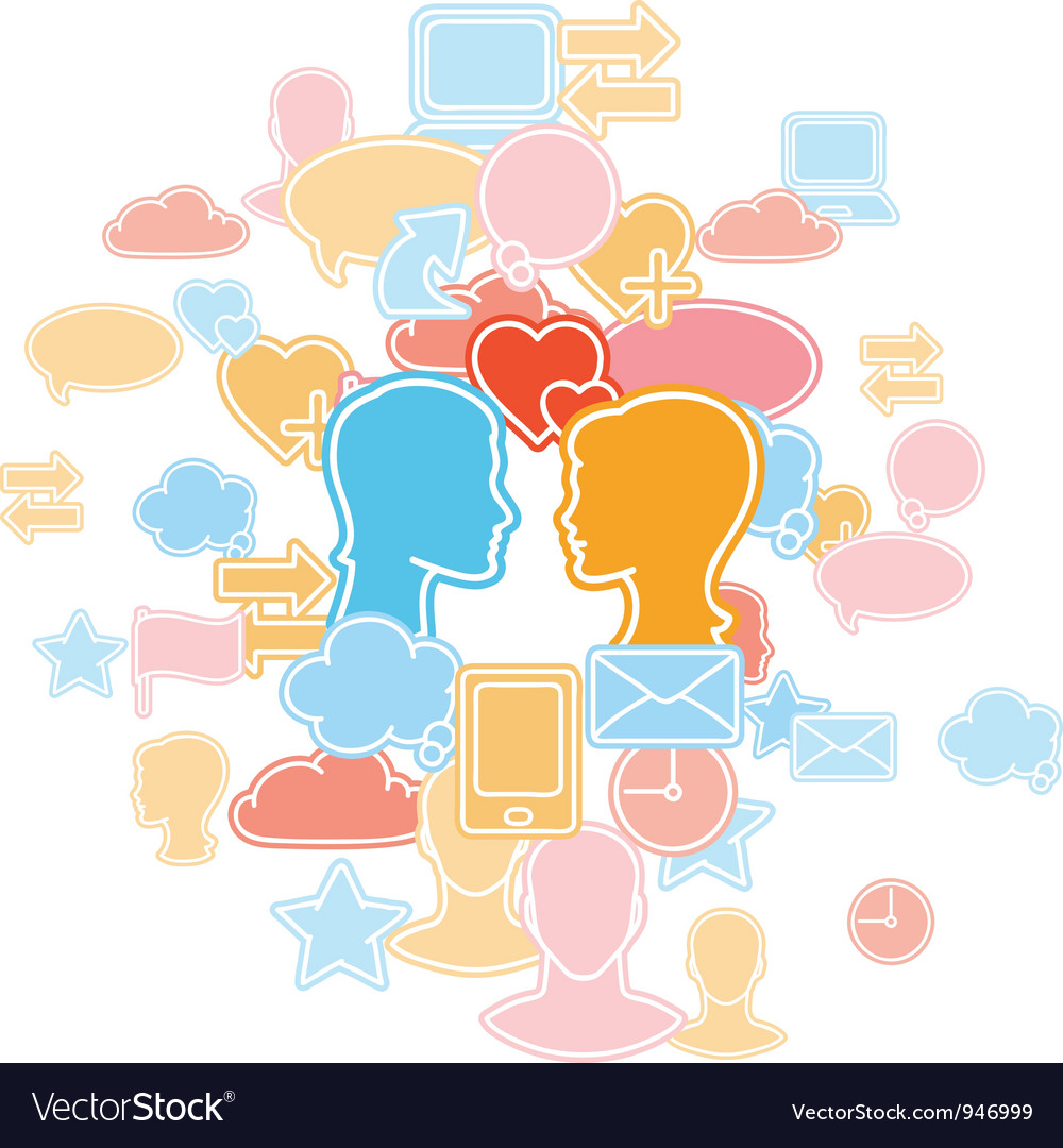 Social media icons pattern vector image