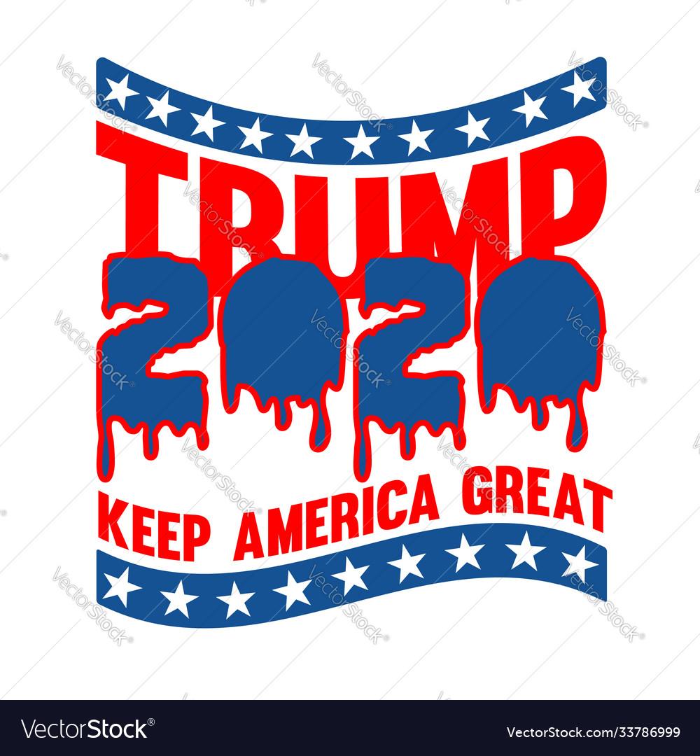 Trump 2020 keep america great t shirt design