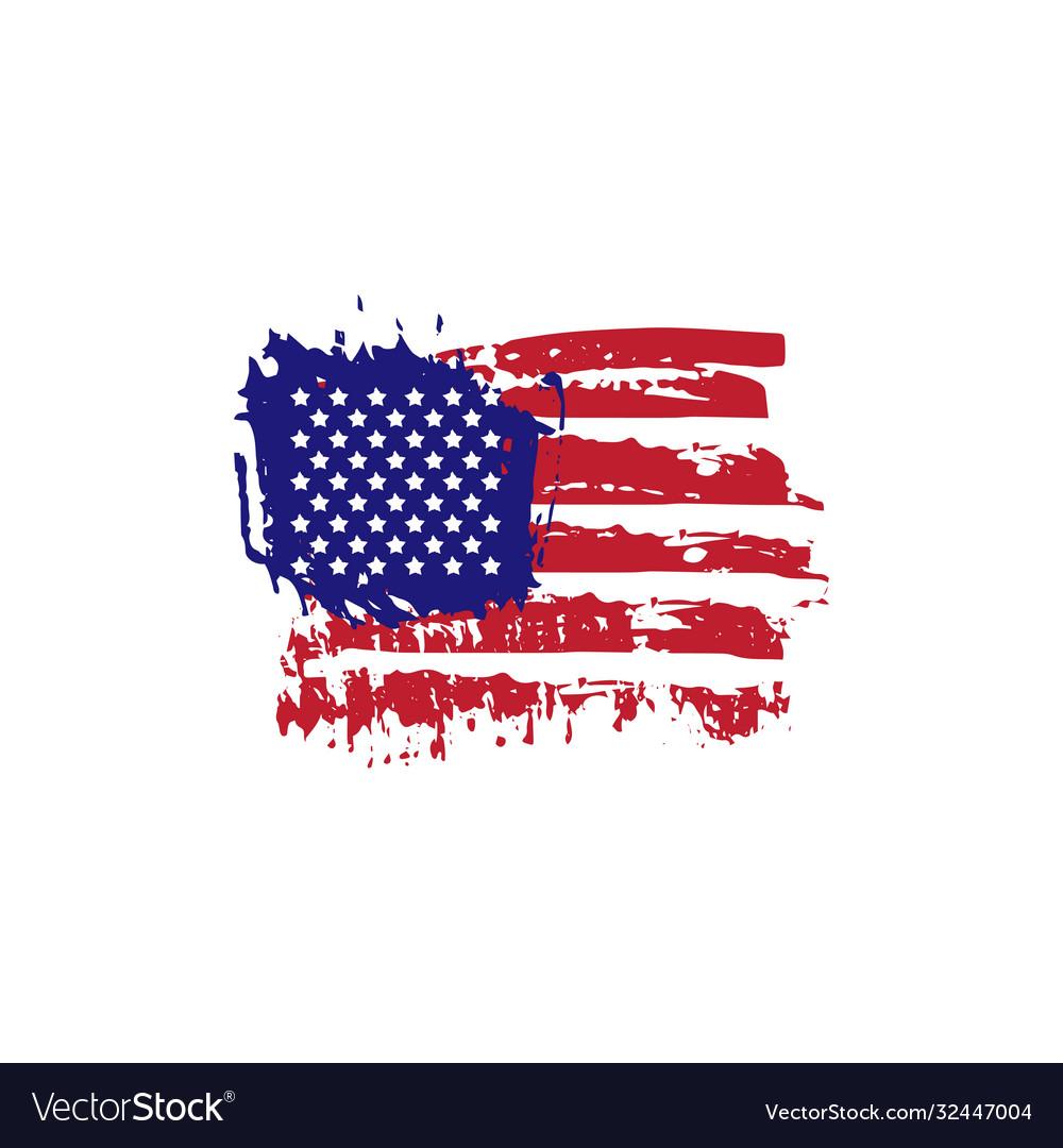 Abstract hand drawn grunge texture usa flag