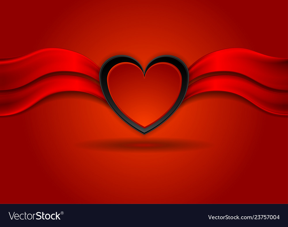Bright red valentines day background with heart