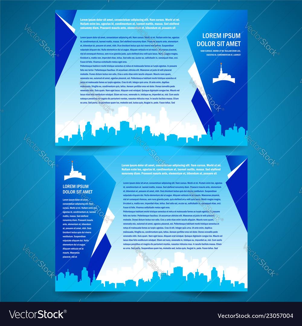 Brochure folder city town tower design template