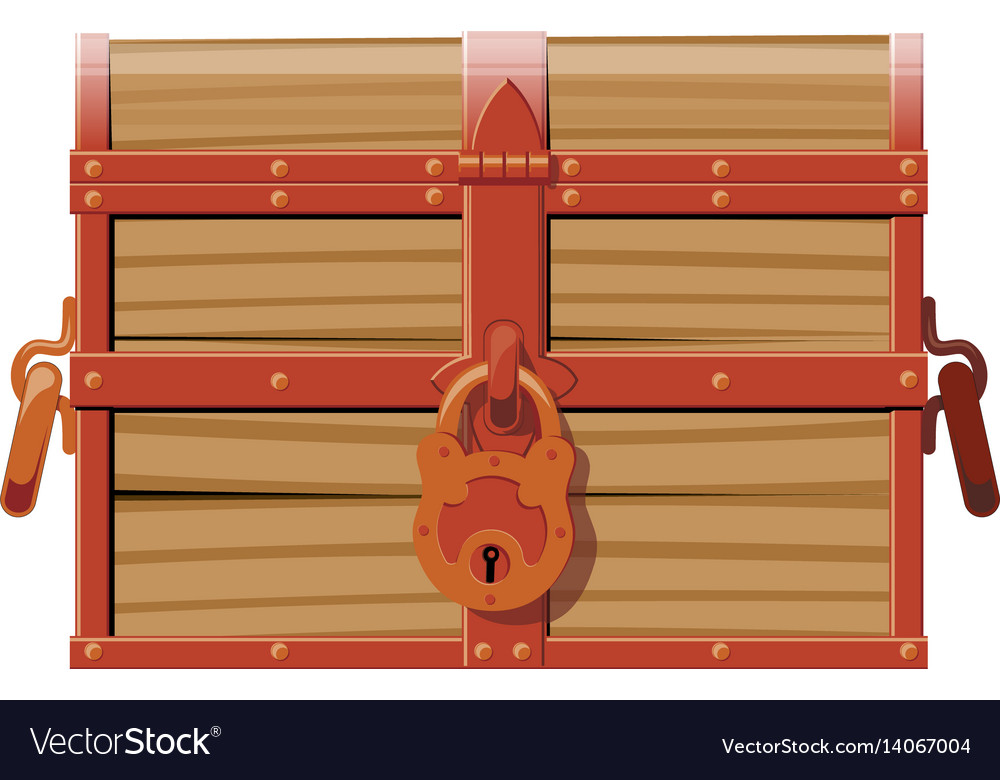 Closed wooden chest