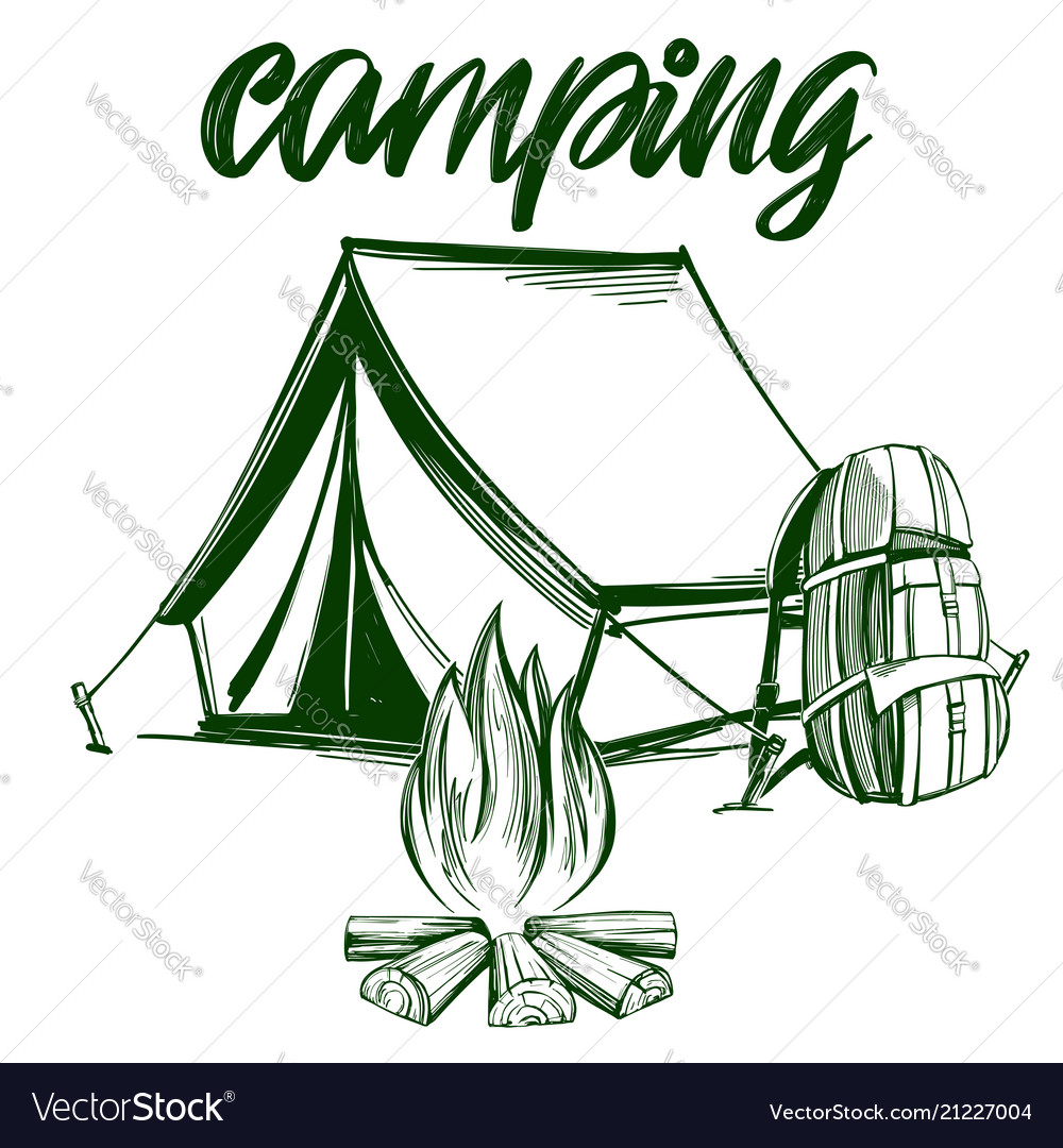 Fire emblem rest in the forest camping hand