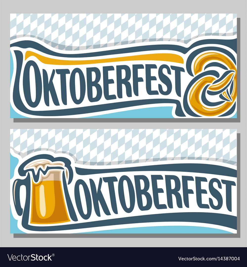 Horizontal banners for oktoberfest