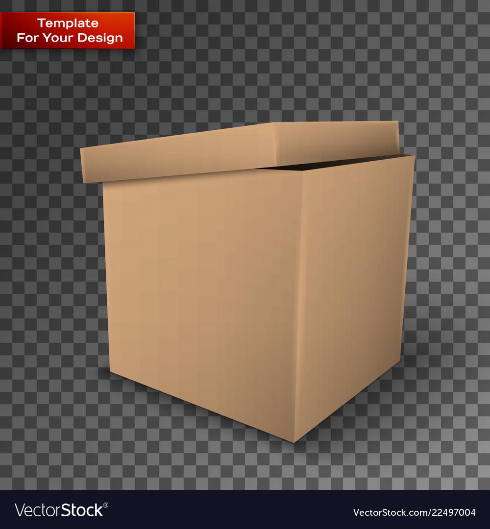 Package box isolated on transparent background