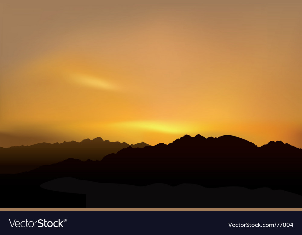 Picturesque sunset vector image