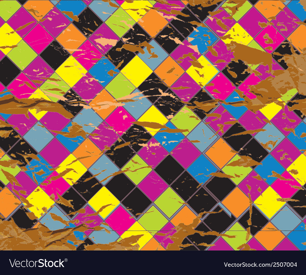 Plaid grunge abstract background vector image