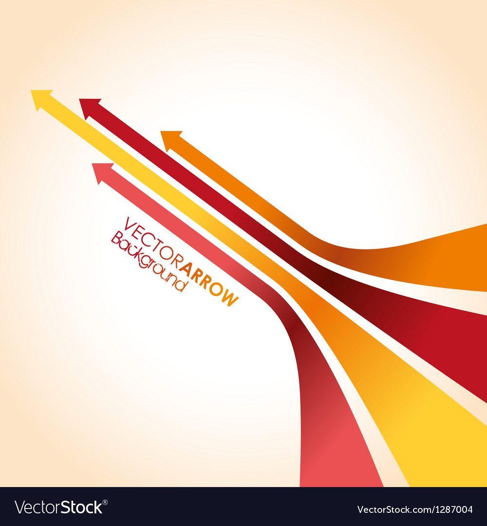 Red arrow strips vector image
