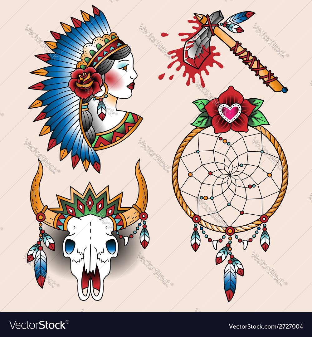 Tattoo indian set