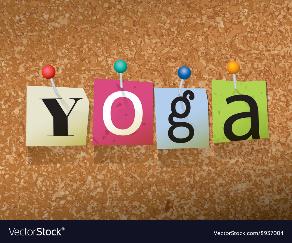 Yoga Pose Letter Vector Images 40