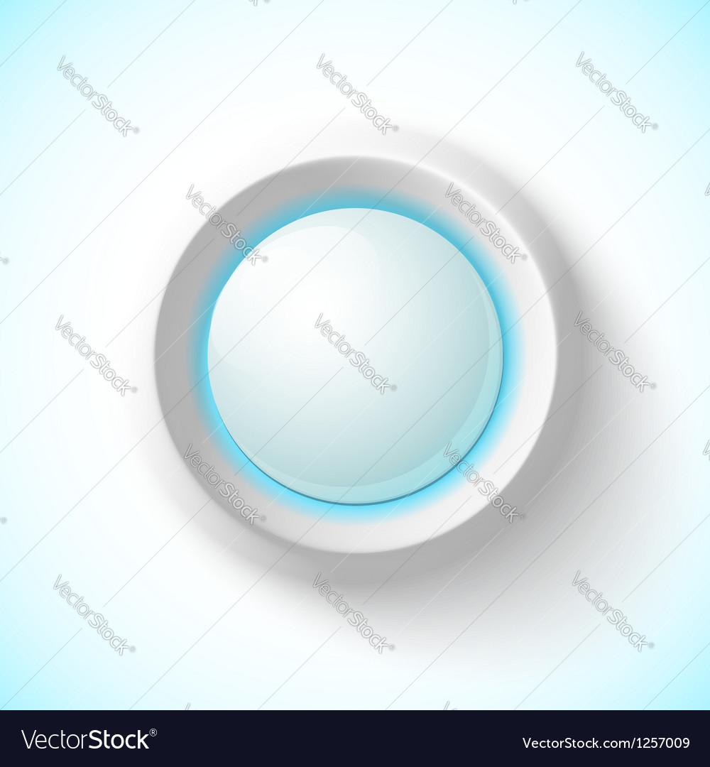 Blue plastic navigation button