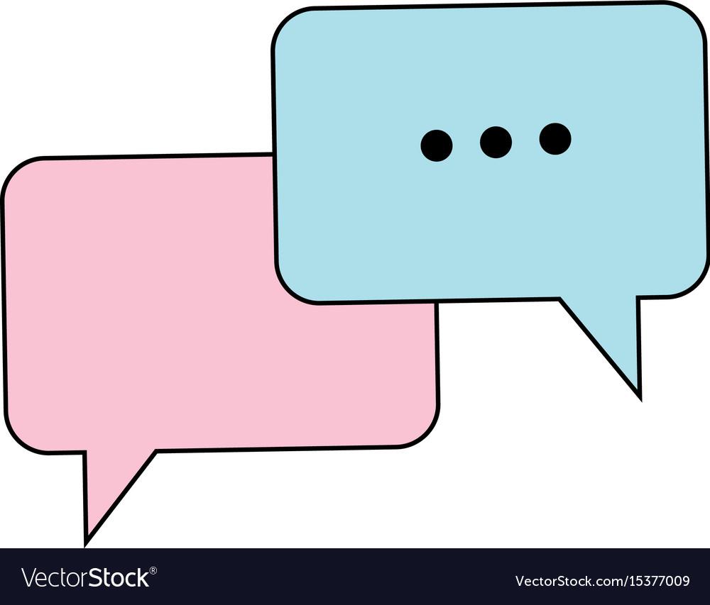 Bubble speech talk message communication web app