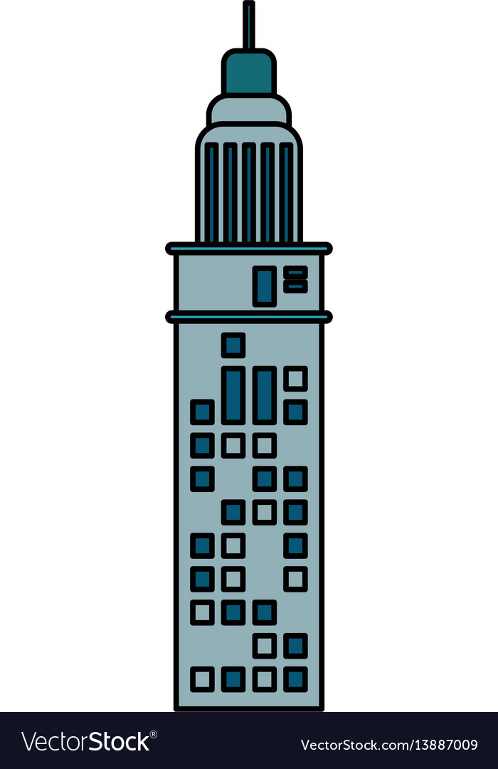 Building architecture modern antenna
