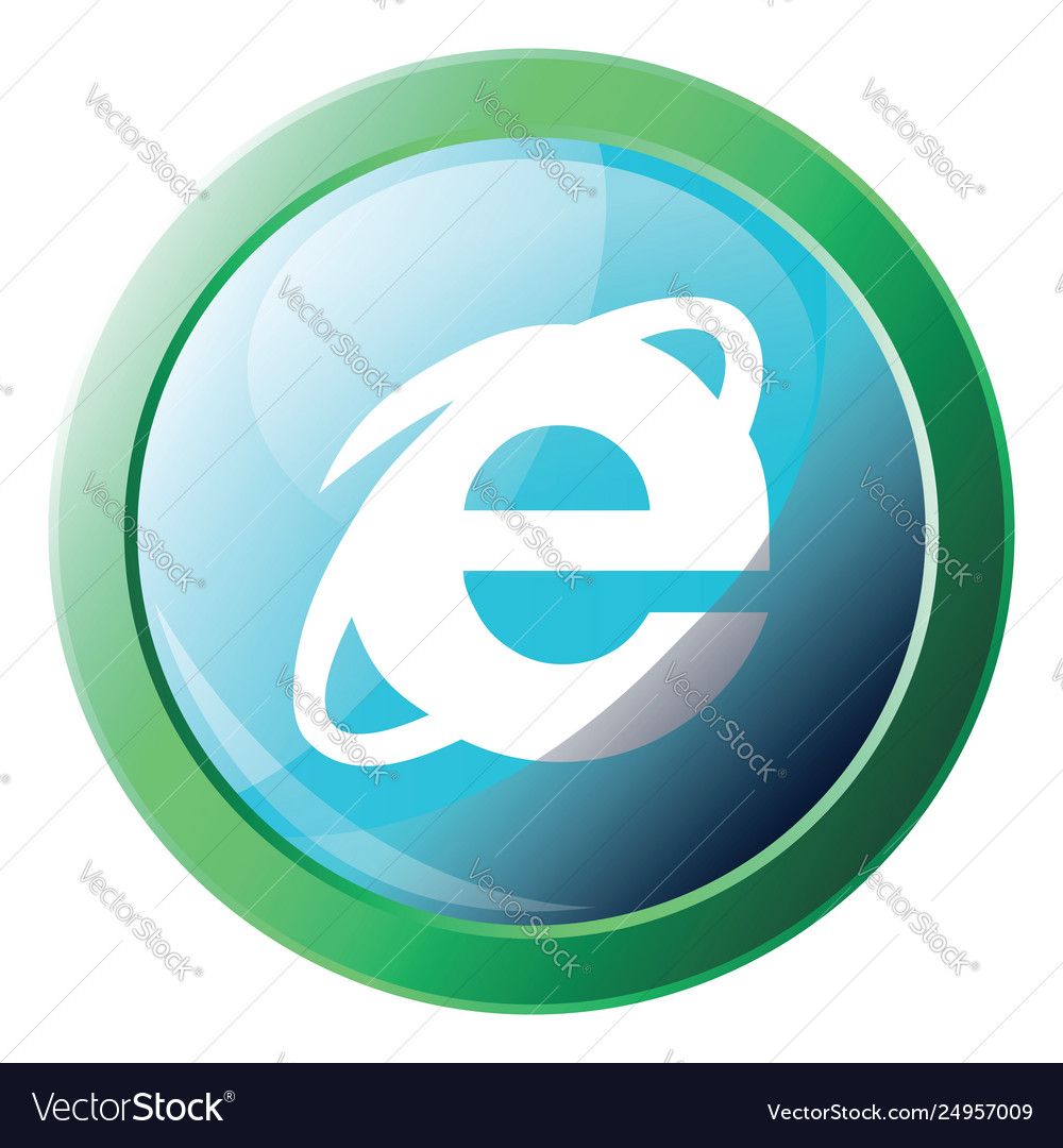 Internet Explorer Browser Sign Icon On A White Vector Image