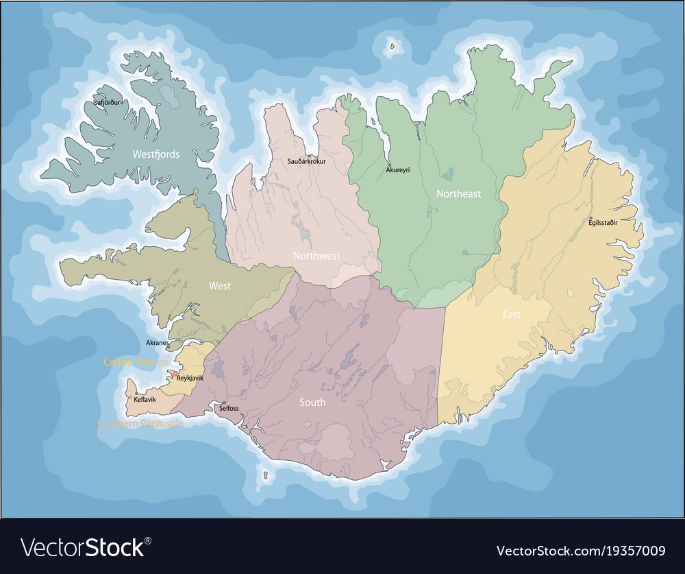 Map of iceland royalty free vector image vectorstock map of iceland vector image gumiabroncs Images