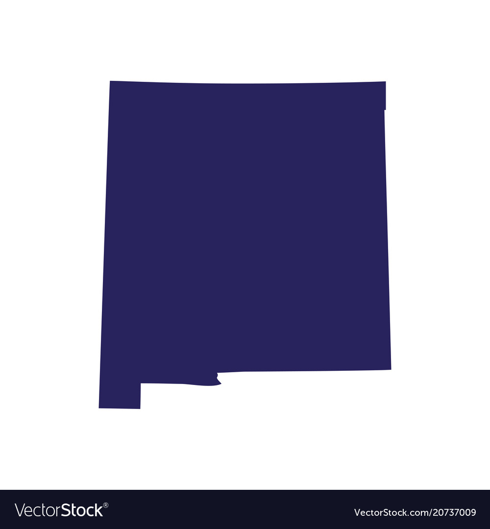 Map us state new mexico