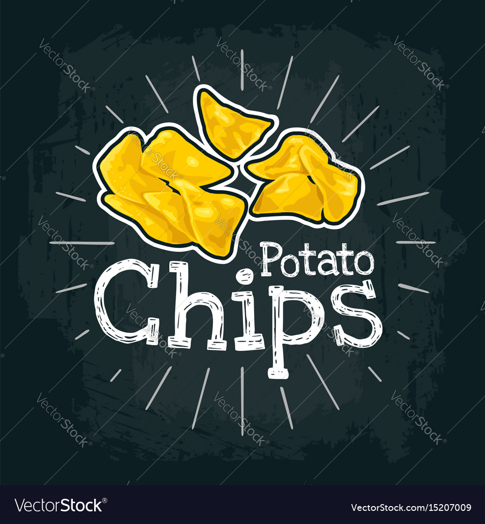 Potato chips flat with