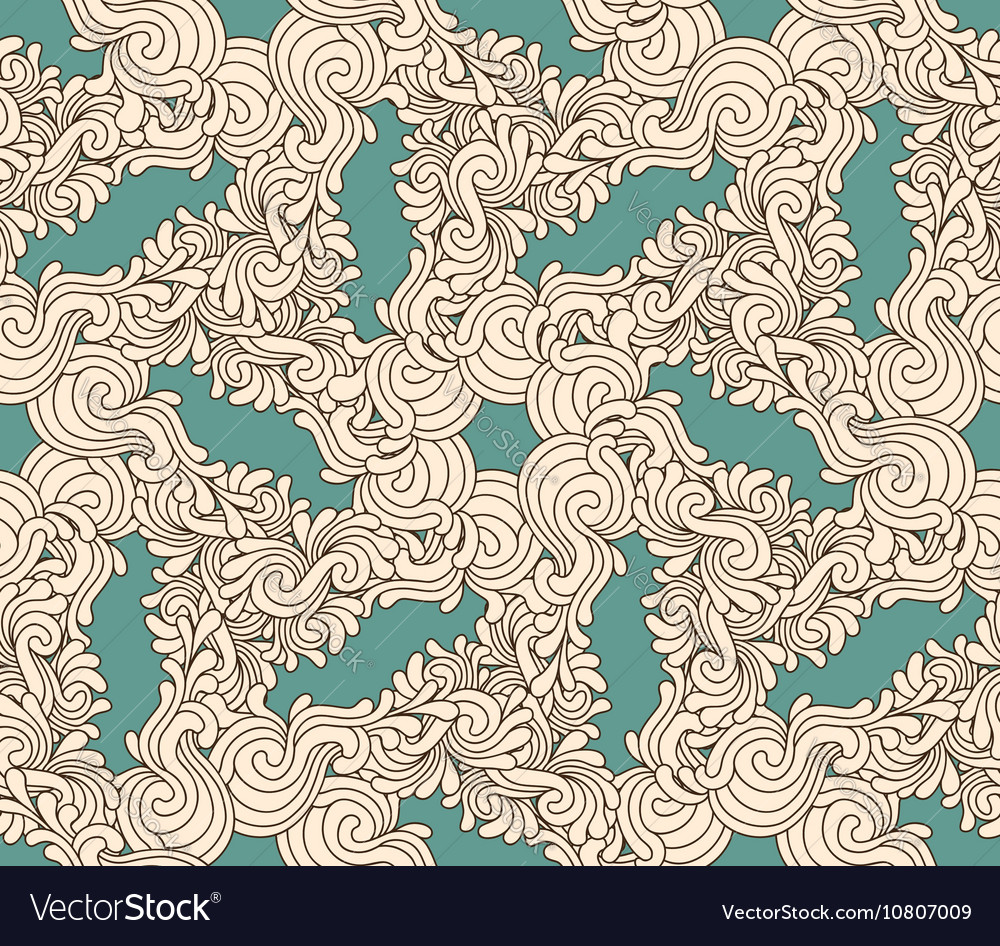Seamless decorative zentangle graphic pattern