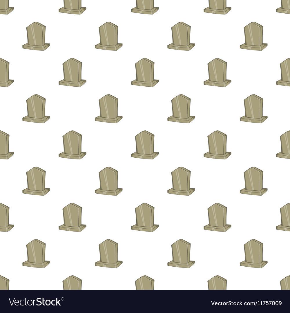 Sepulchral monument pattern cartoon style