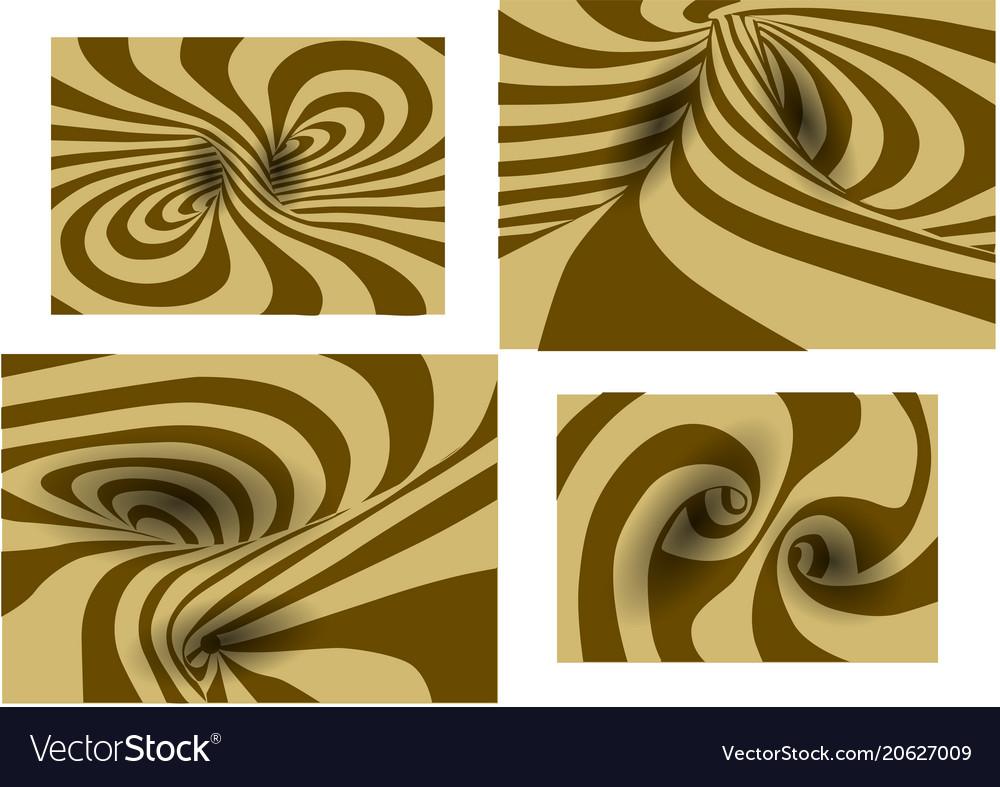 Set of spiral background vector image