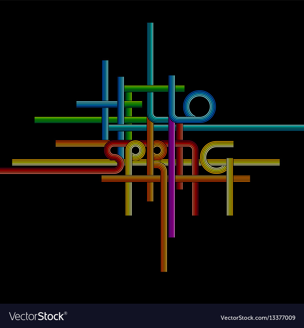 Typography background phrase hello spring