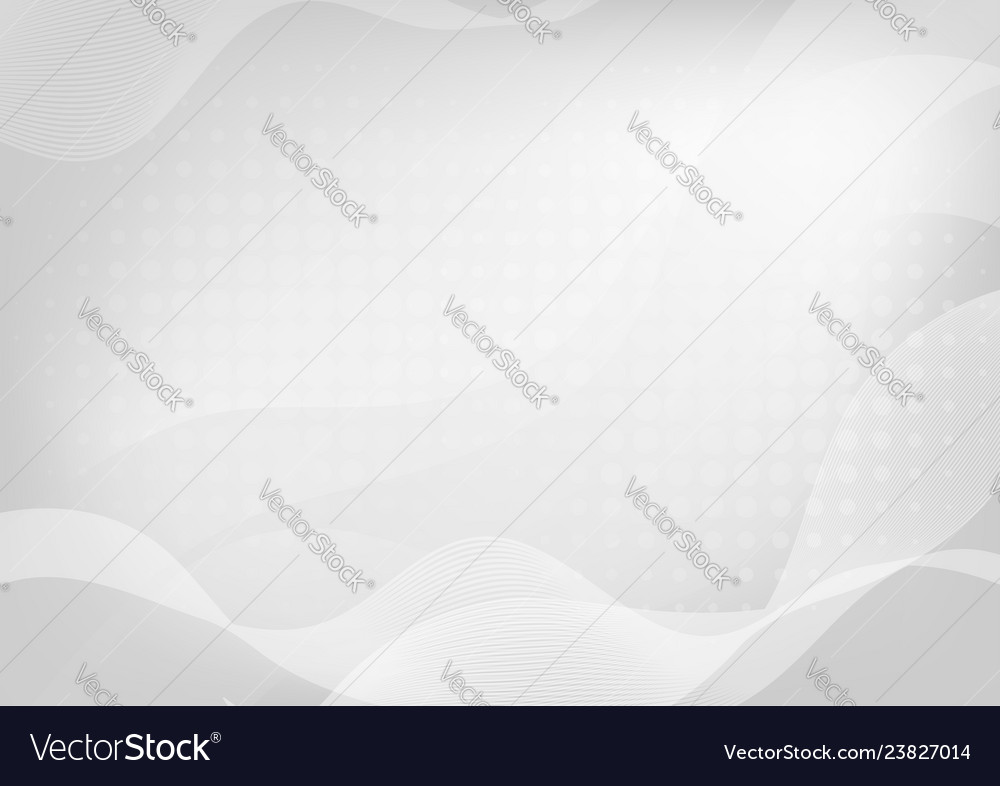 Abstract white curve on gray background