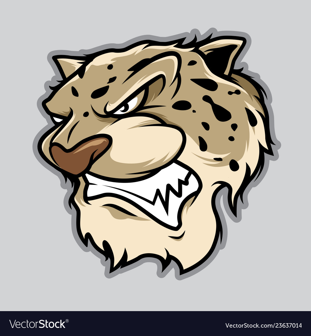 Leopard head in cartoon style