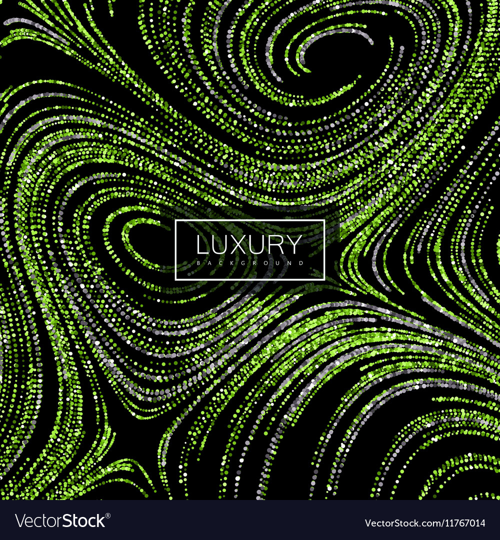 Luxury background with shiny green glitters vector image