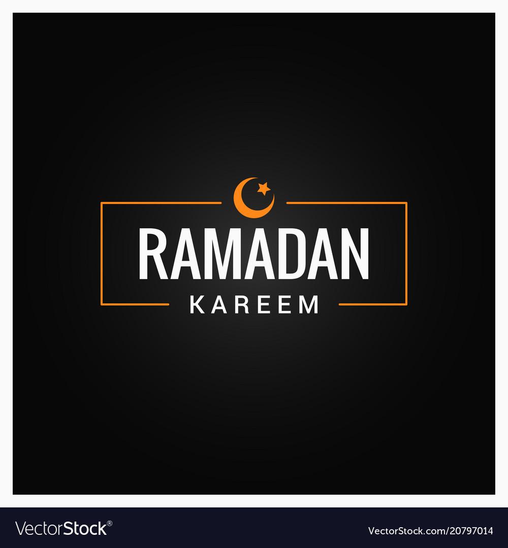 Ramadan kareem logo on black background