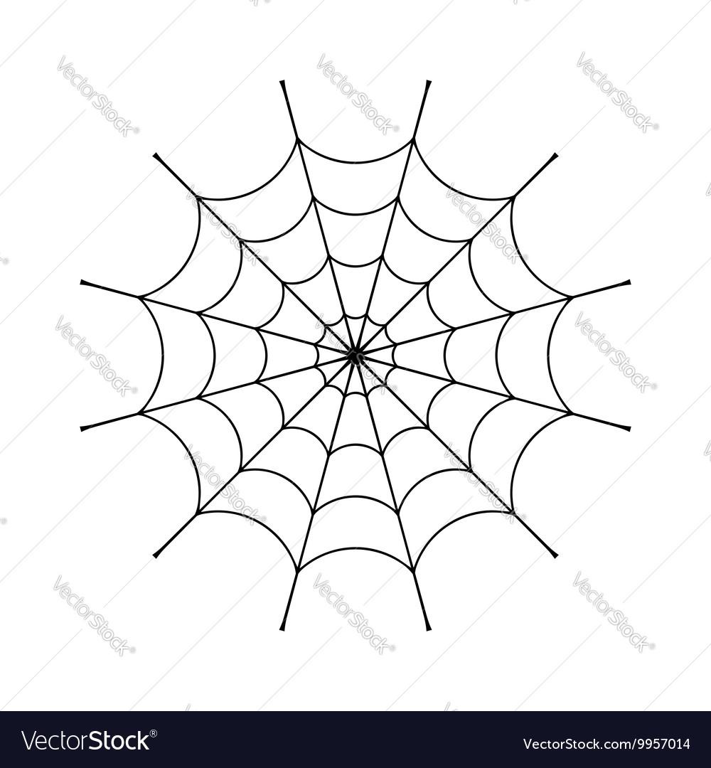 Spider web clip vector image