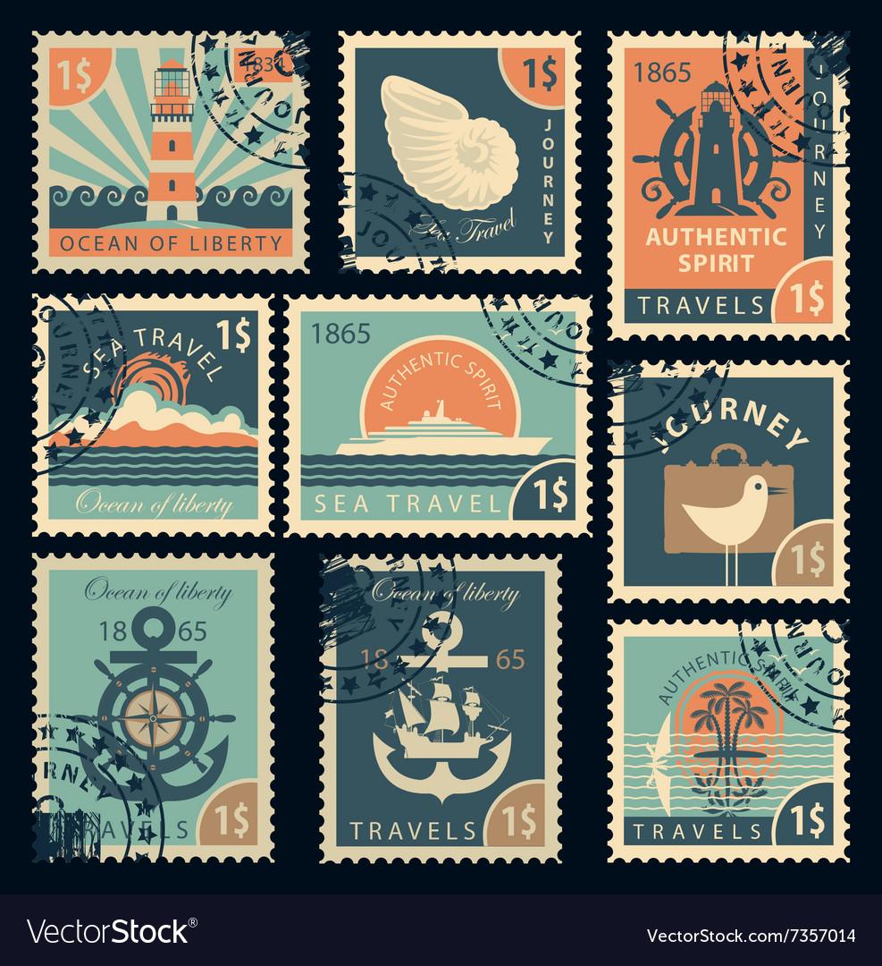 почтовые марки ретро картинки свадьбы молодожены