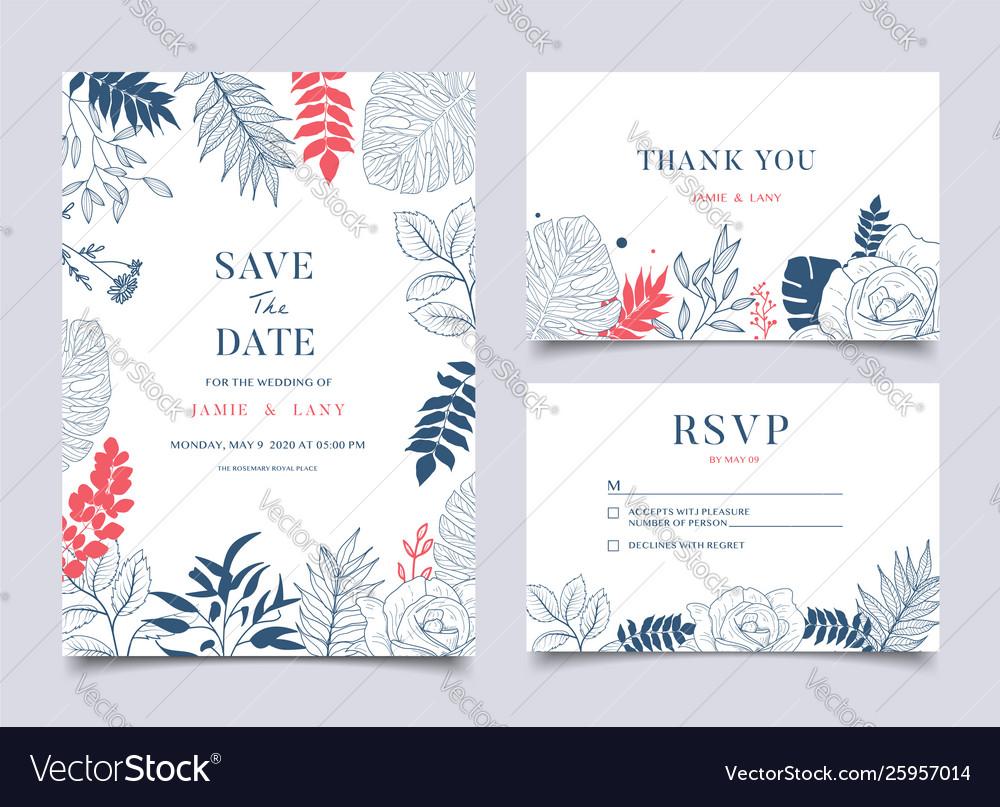 Tropical wedding floral frame background