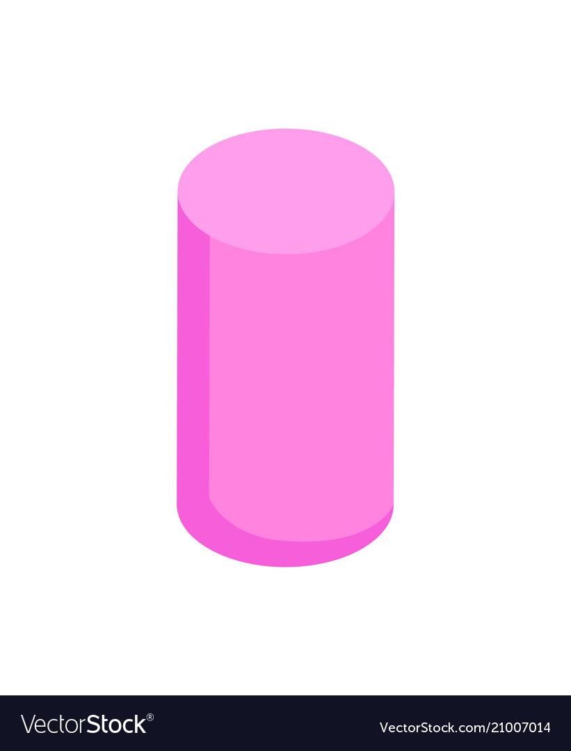 Vertical pink cylinder color