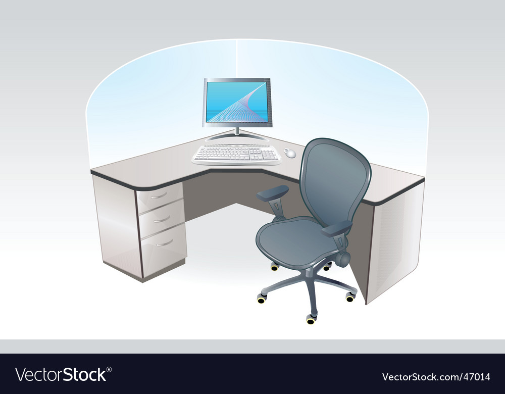 Working place cubicle vector image