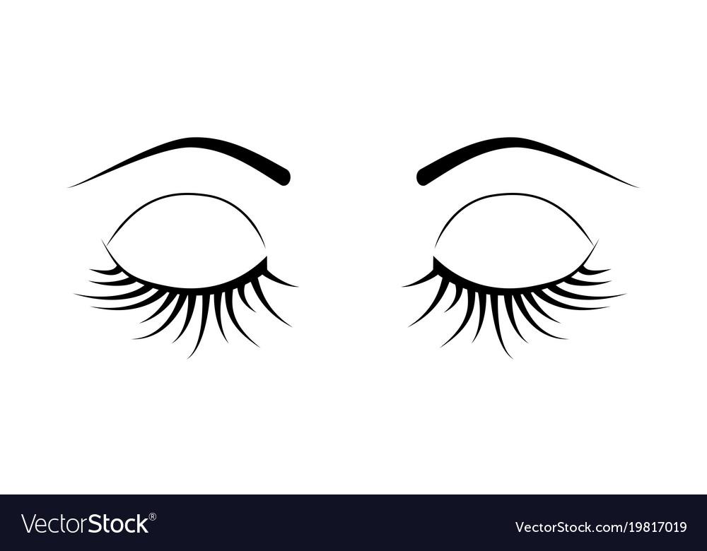 Closed eyes eyelash extensions