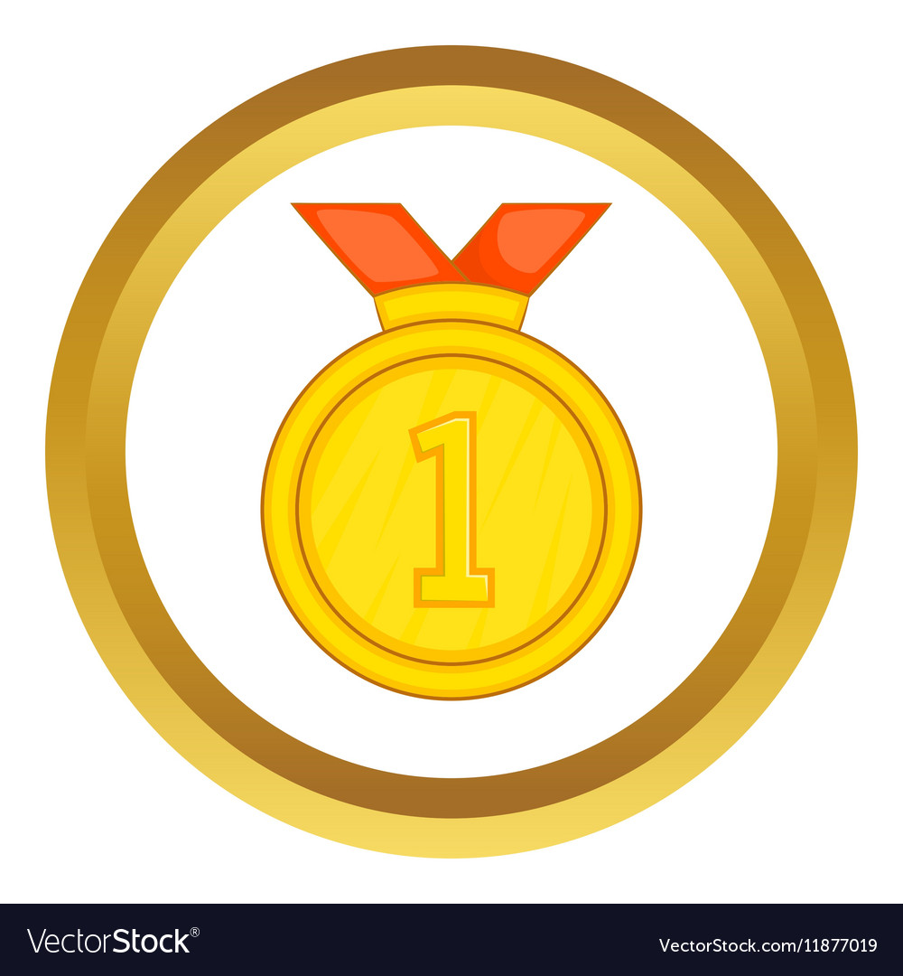 Gold medal for first place icon