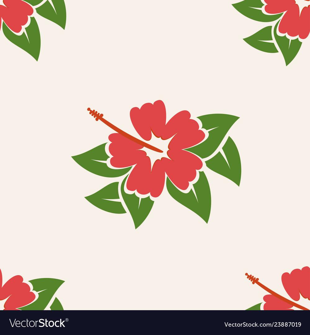2725e7a0f07a Hawaiian aloha shirt seamless background pattern Vector Image