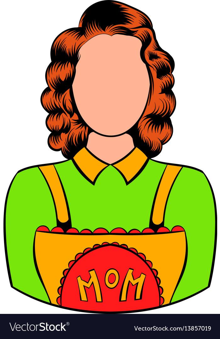 Mom icon in icon cartoon