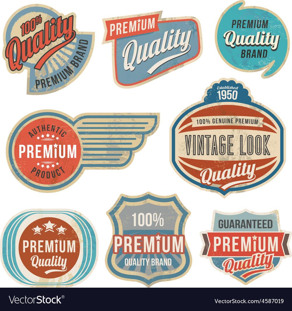 Retro vintage label banner set