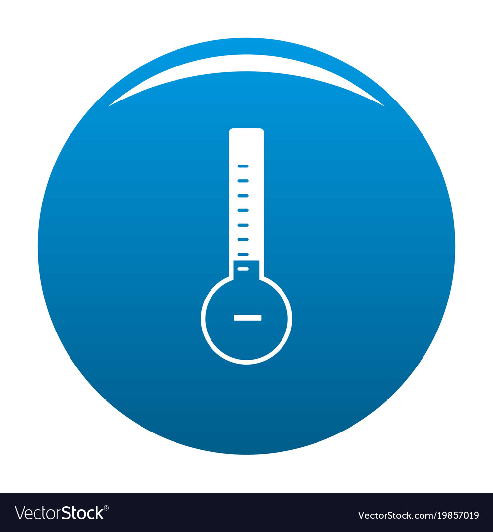 Thermometer cold icon blue vector image