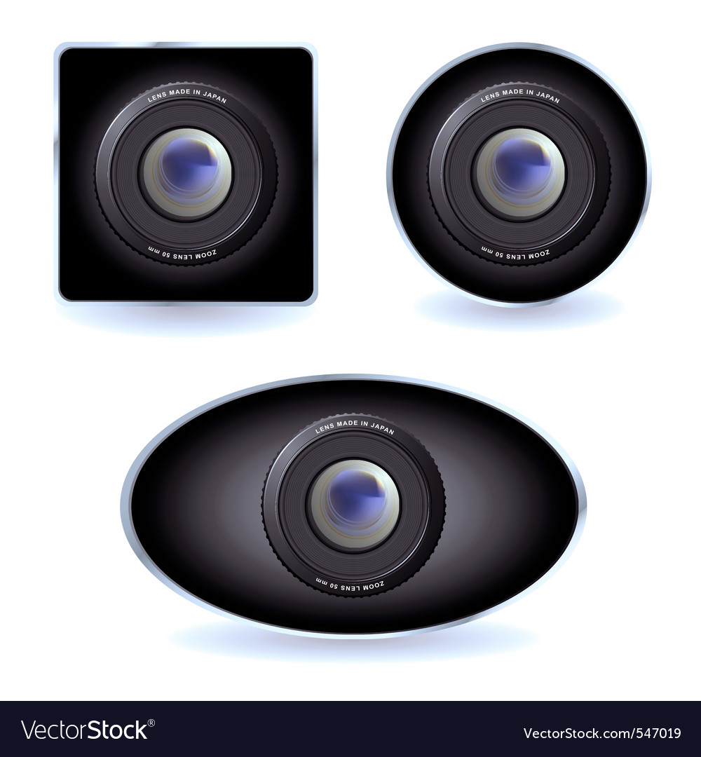 Web cams with zoom lens vector image