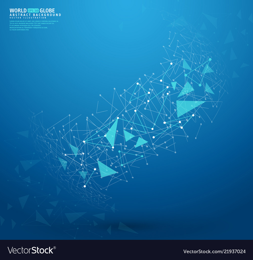 Abstract geometric background with connecting