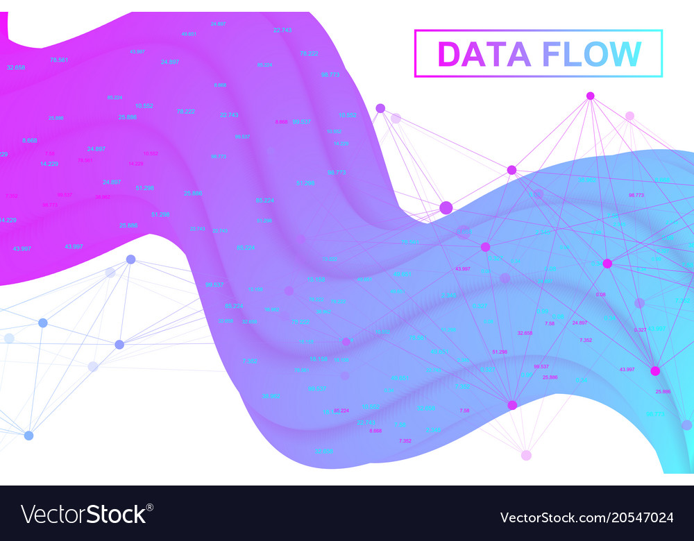 Big data flow artificial intelligence and machine