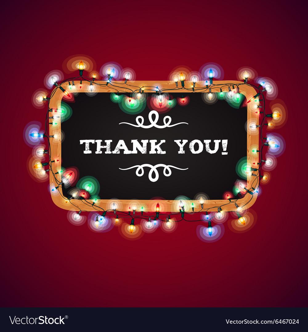 Christmas Lights Thank You Banner